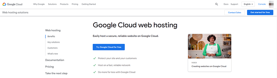 google cloud is a best  Free Website Hosting Services